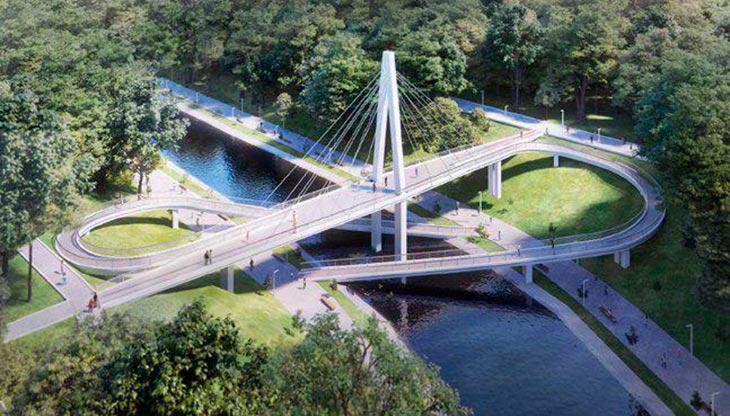 Знак бесконечности: каким будет первый вантовый пешеходный мост в Узбекистане. Детали