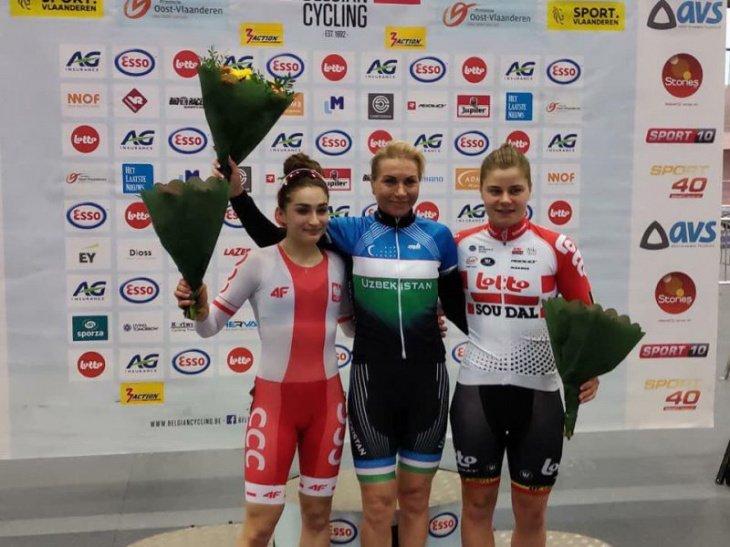 Велосипедистка из Узбекистана завоевала золото на турнире в Бельгии