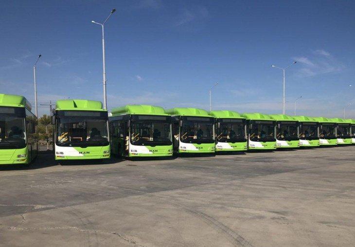 Ташкентские автопарки получили 30 новых автобусов МАN с кондиционерами