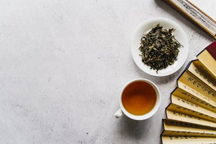 китайский чай в земле